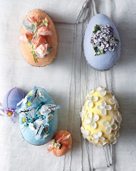 For years Kevin Sharkey has been crafting original Easter baskets for Martha. Get inspired by his most stunning creations, featuring shimmering eggs, velveteen rabbits, gilded flowers and more.