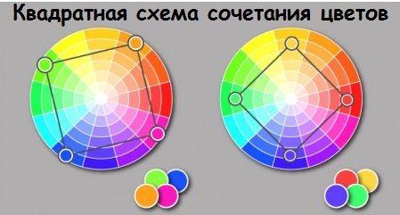 квадратная схема цветов