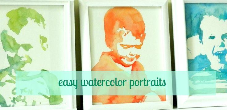 Grow Creative: Easy Watercolor Portrait Tutorial: Idea, Watercolors, Watercolor Portrait Tutorial, Watercolor Portraits Tutorials, Growing Creative, Easy Watercolor, Watercolor Projects, Water Colors, Watercolor Prints