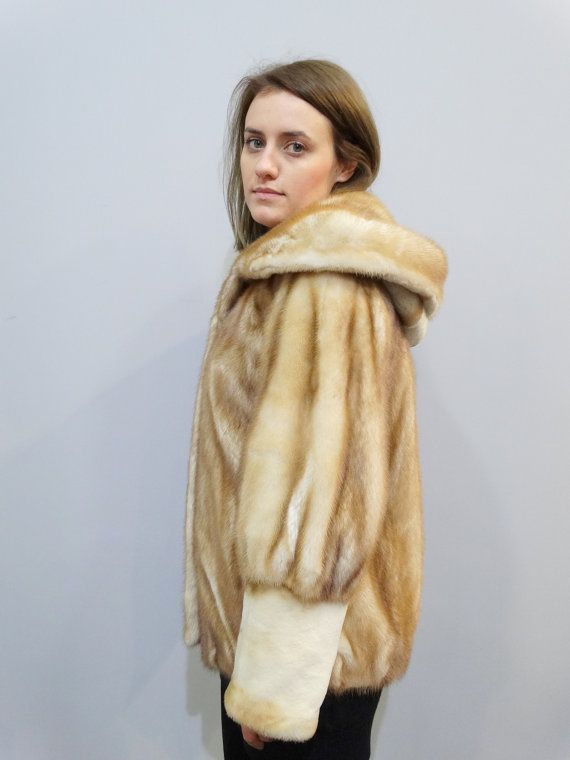 Real fur coat mink fur coat hooded coat winter by FilimegasFurs