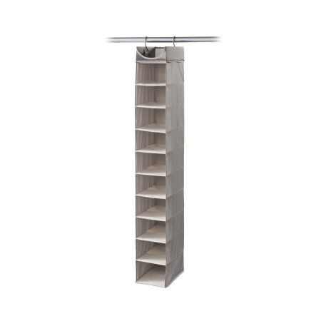Neatfreak Hanging Closet Organizer, 10 Shelves, Harmony Twill