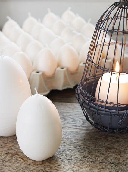 Velas en forma de huevos #Affari #Estilonordico #Pascua