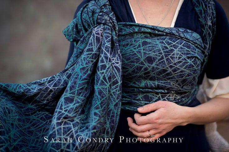 Woven Wings Labyrinth Taurus Wrap sz 6 (merino, linen, silk)