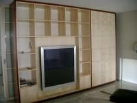 Figured Sycamore And Jarrah Veneer Tv And Display Unit