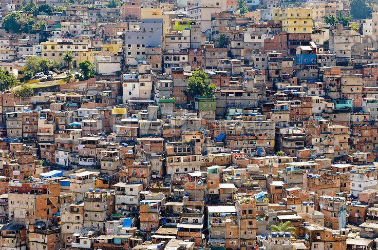 Old Slum of Rocinha, Housing, Rio de Janeiro, Brazil