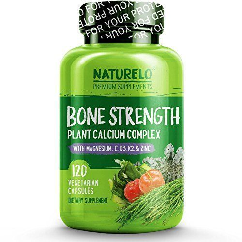 The Product NATURELO Bone Strength – with Plant Calcium, Magnesium, Vitamins C, D3, & K2 – Best Whole-Food Supplement for Bone Health – 120 Vegetarian Capsules Can Be Found At - http://vitamins-minerals-supplements.co.uk/product/naturelo-bone-strength-with-plant-calcium-magnesium-vitamins-c-d3-k2-best-whole-food-supplement-for-bone-health-120-vegetarian-capsules/ #mineralshealth