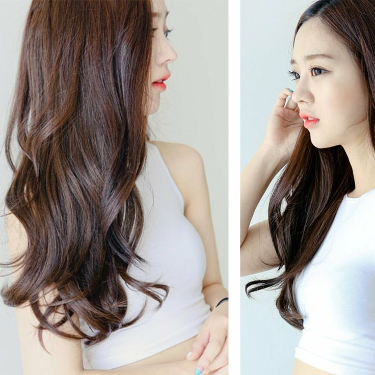 [PINKAGE] (Hair Extensions) - Loose Perm Supreme Yarn V- Line 4pcs : High quality fiber like human hair / Daily natural wave style
