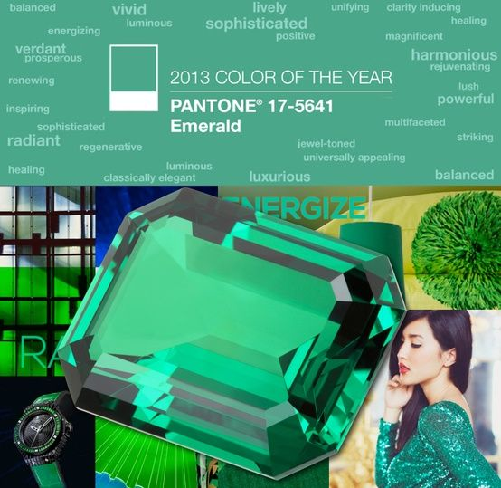 Emerald: Colors Trends, Pantone Colors, Good Things, Emeralds Green, Emeraldgreen Collection, Pantone 17 5641, Pantone Colour, 2013 Colors, Years 2013