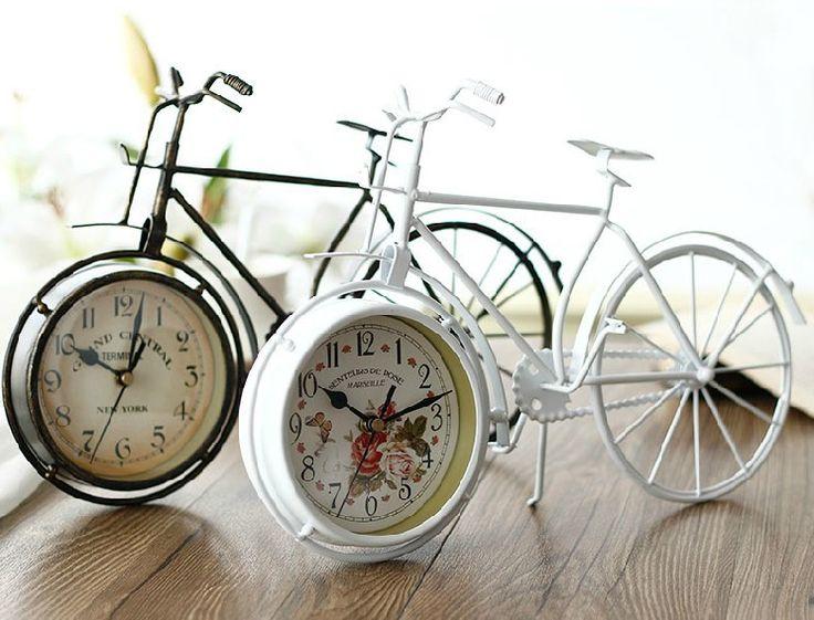 Напоминает настольные часы металлический прокат форме смолы круглый колеса немой настольные часы украшения дома старинные настольные часы велосипед купить на AliExpress