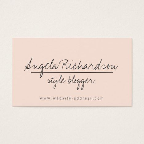 Unique Edgy Handwritten Style Bloggers Crafters 2 Business Card Check out this business cards. You can't find this design at your local printer. #businesscards #business #businessowner