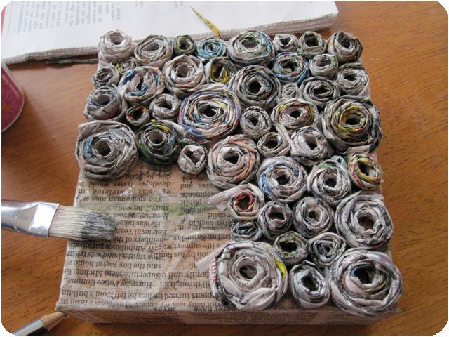 Crafted: How to: Newspaper canvas artwork