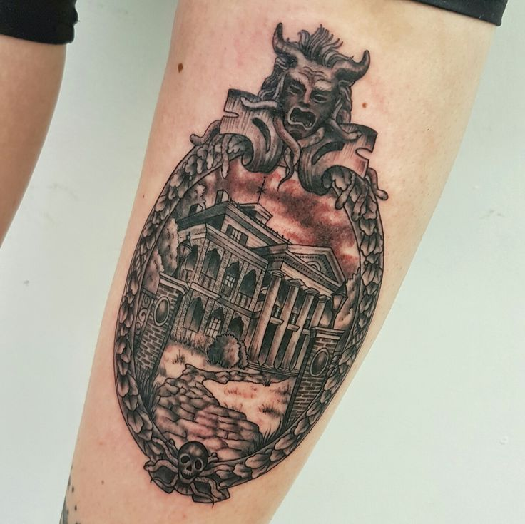 Disneyland's Haunted Mansion tattoo