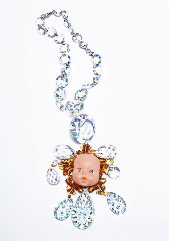 """Lakis Gavalas wears Kondylatos Necklace! """"Le Chandelier et la Bebe"""" necklace by Pericles Kondylatos"""