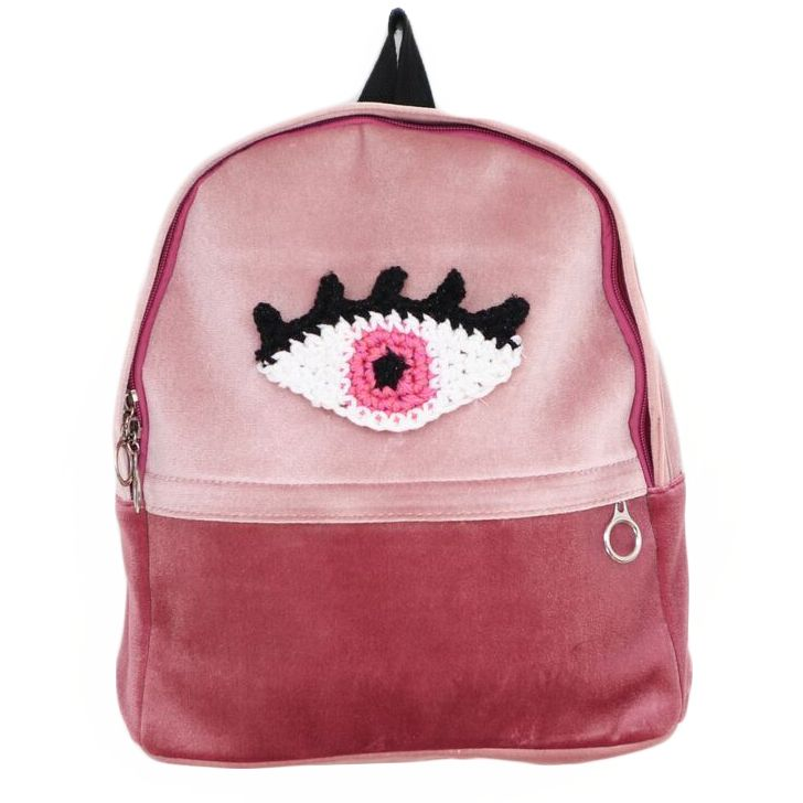 Pink Velvet Eye Backpack | NYLON SHOP