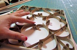 Faux Metal Wall Art (Including FREE patterns!) using toilet paper rolls !