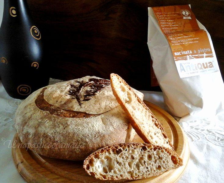 Pane senza impasto con lievito madre farina tipo 2. #ricetta di @https://it.pinterest.com/27febo11/