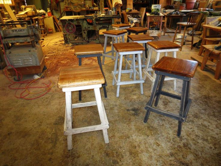 Shabby Chic Bondi Bar Stool. Handmade in Sydney by Christopher Bennell Furniture. $180 each. Contact Chris for more information.