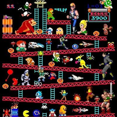 How many retro video games can you name from this pic? Video Games Consoles Console Mario Zelda Nintendo Switch Playstation Xbox One Retro Nostalgia Xbox Atari NES SNES Sega Genesis Master System Game Gear Gameboy GameCube Wii Wii U Video Vintage, Vintage Video Games, Classic Video Games, Retro Video Games, Vintage Games, Video Game Art, Retro Games, Joystick Arcade, Bartop Arcade
