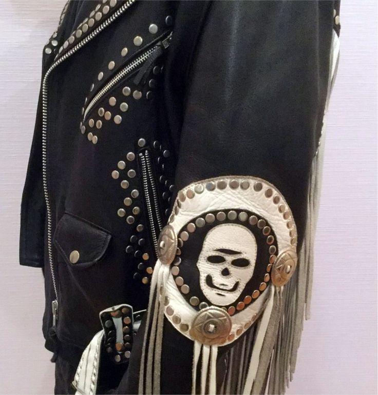Image of Ace of spades vintage leather jacket