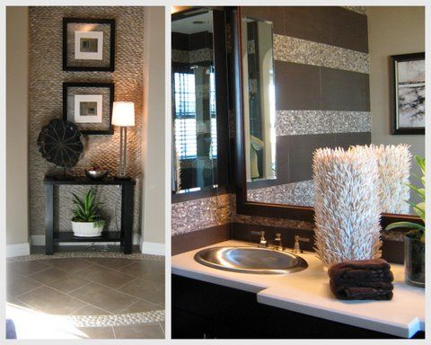 "An ""Earthy Casual"" bathroom by Cathy. Want to know your Stylescope style personality? Check out the quiz on HomeGoods."