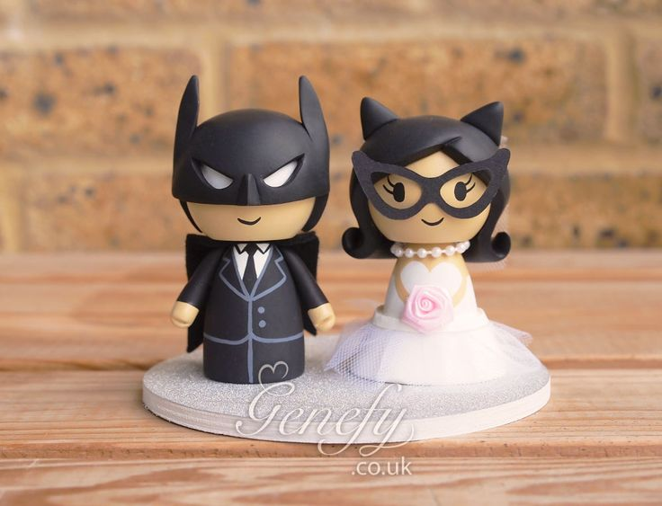 Batman And Blonde Catwoman Wedding Cake Topper