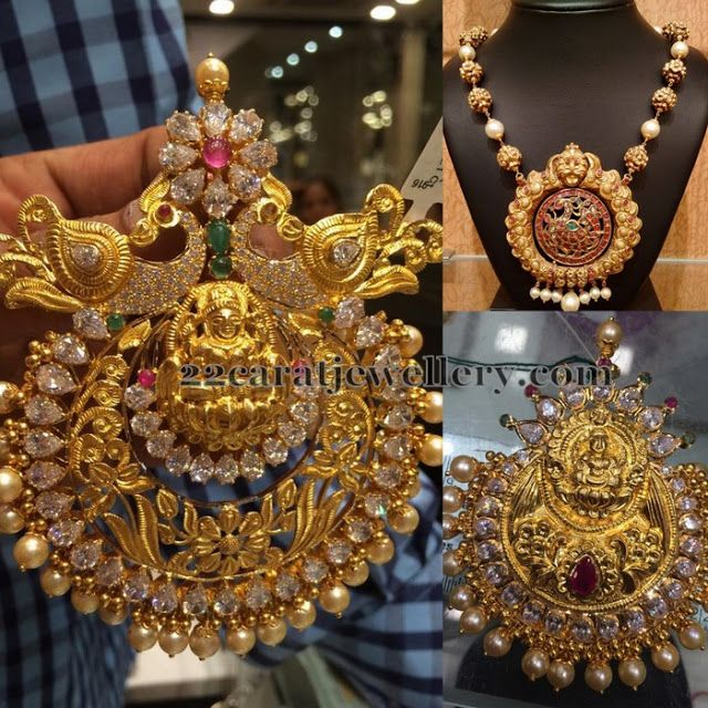 Jewellery Designs: Antique Finish Pendants