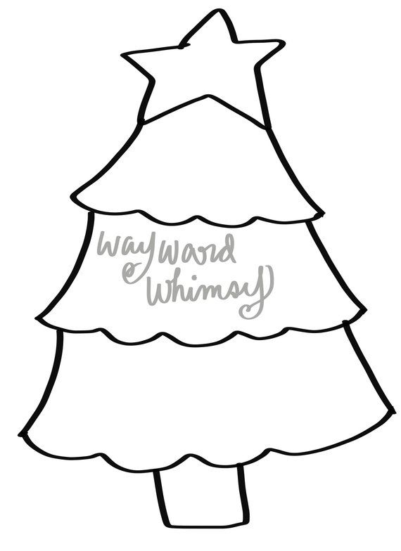 Christmas Tree Door Hanger Downloadable File Printable Template