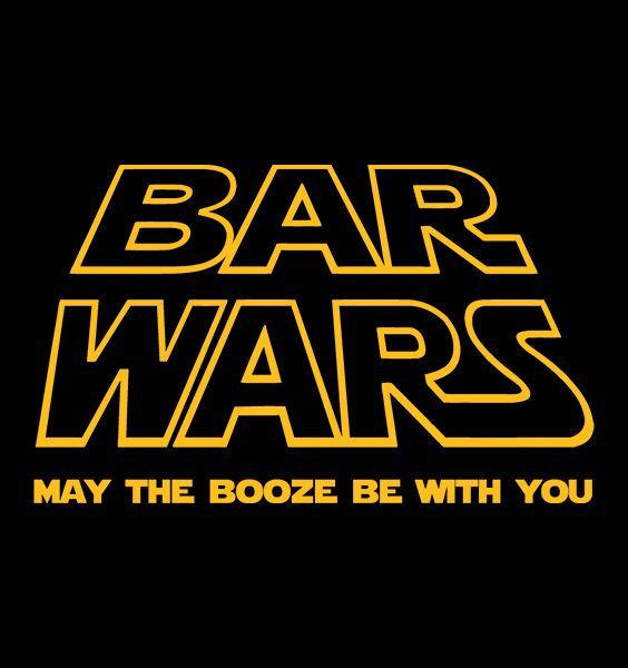 The Force is strong with this shirt. Worried about keeping up with your buddies at the next pub crawl? Obi-Wan might not come to your rescue, but you could drink like a Jedi with our awesome Bar Wars design. Bar Wars is available now on t-shirts and accessories on Redwolf.in