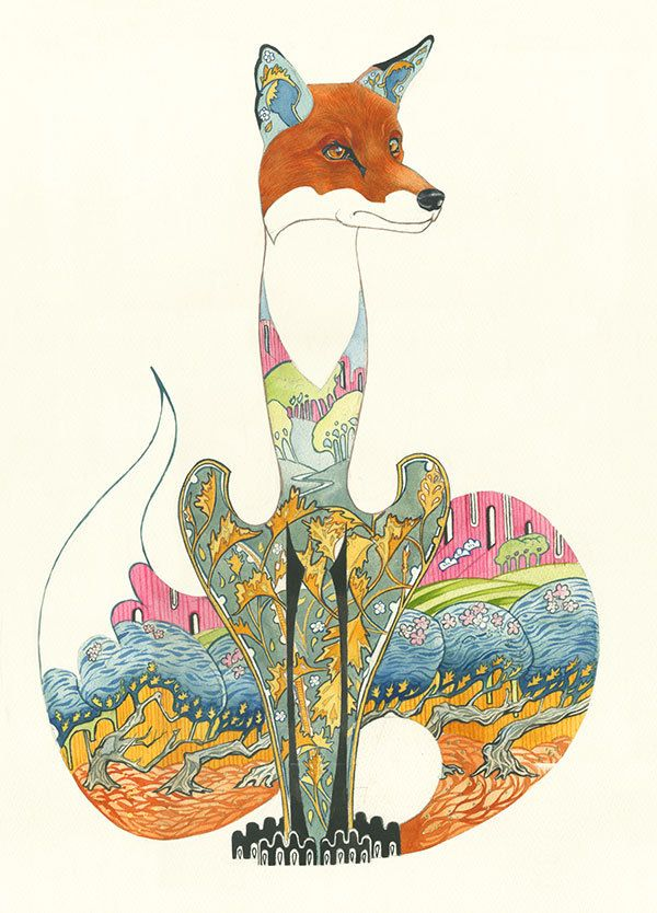 Image of Fox  Sitting-Card  Daniel Mackie