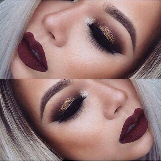 sexy dramatic makeup look