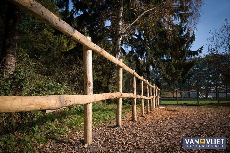 Hekwerk van duurzaam Kastanjehout