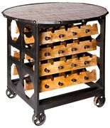 BRIX | wine rack and table | Get The Look | reasonseasontime.co.uk | Warehouse Home Design Magazine