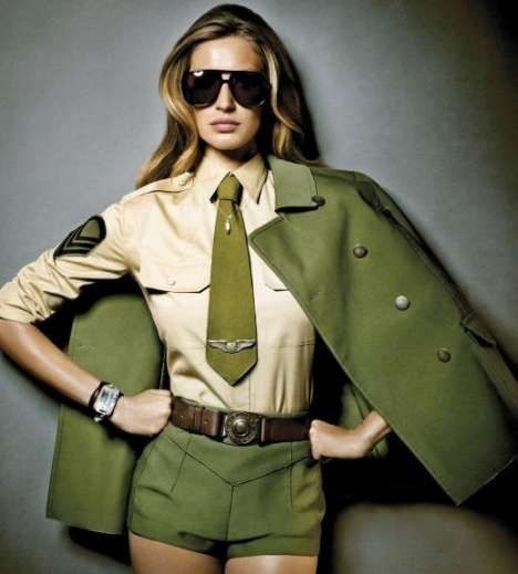 Combat-Ready Fashion Shoots - Military-inspired caps, double-breasted jackets and camouflage prints are making a huge comeback in the fashion world, with combat-ready fashion sh...
