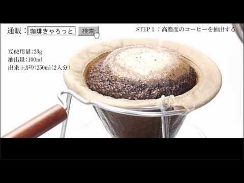 【珈琲きゃろっと】おいしいコーヒーの淹れ方:自家焙煎コーヒー豆の通信販売専門店