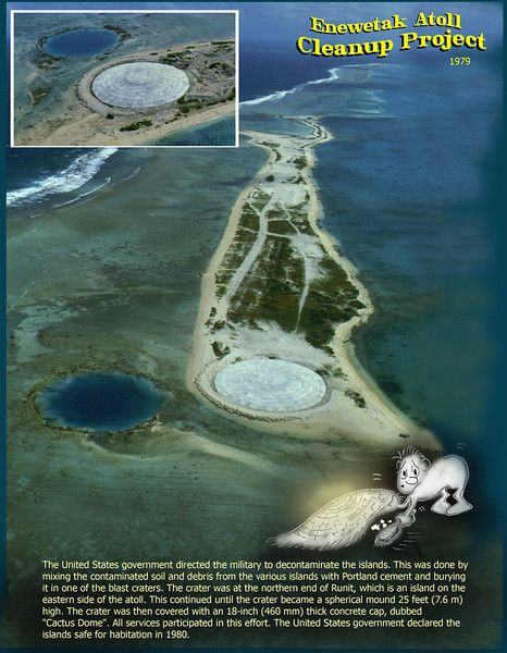 Runit Dome on  Enewetak Atoll, Marshall Islands