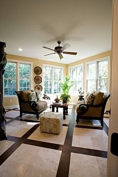 living room wood and tile floor design ideas pictures remodel and decor - Flooring Design Ideas