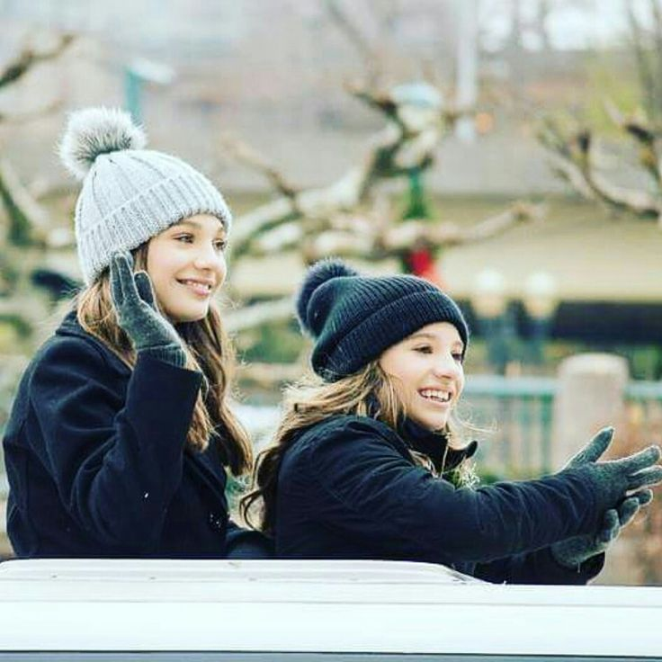 "maddie-ziegler-source: ""Maddie and Mackenzie at the Pittsburgh parade """