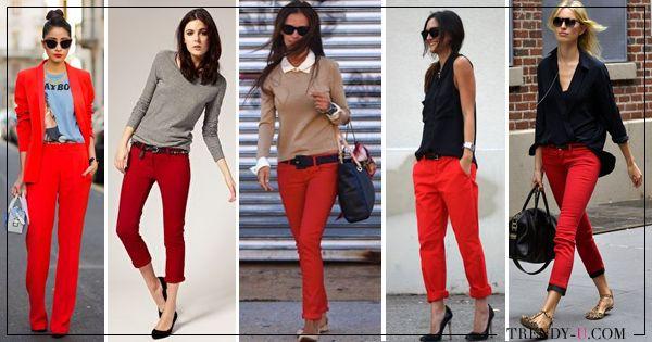 #red_pants #red_trousers #red_pants_outfit С чем носить и как правильно сочетать красные брюки, чтобы выглядеть стильно и эффектно?  С чем носить красные брюки в клетку? Где купить красные брюки?  Об этом и многом другом в нашем очередном фэшн-обзоре!