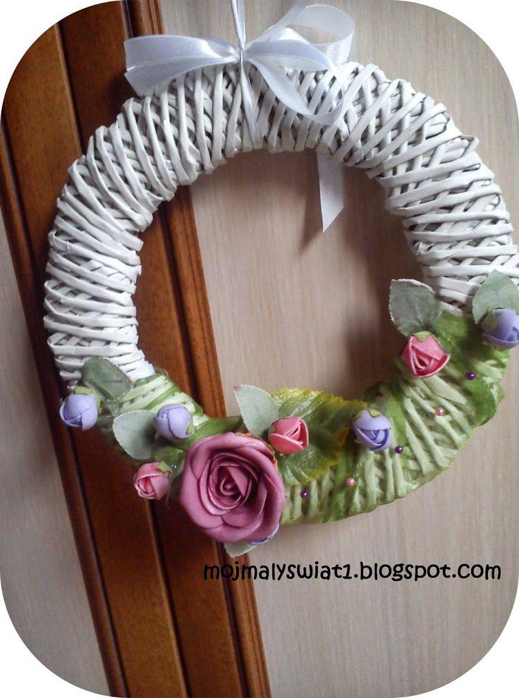 Wieniec wiosenny z papierowej wikliny - krok po kroku + Podziękowanie dla firmy Annabelle Minerals - Mama-Kreatywna