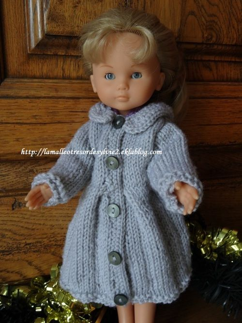 Fiche gratuite vêtements de poupée N° 212 manteau pour chéries