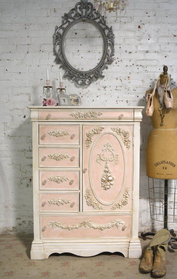 A beautiful romantic French chest for your cottage home! This is a brand new pie…