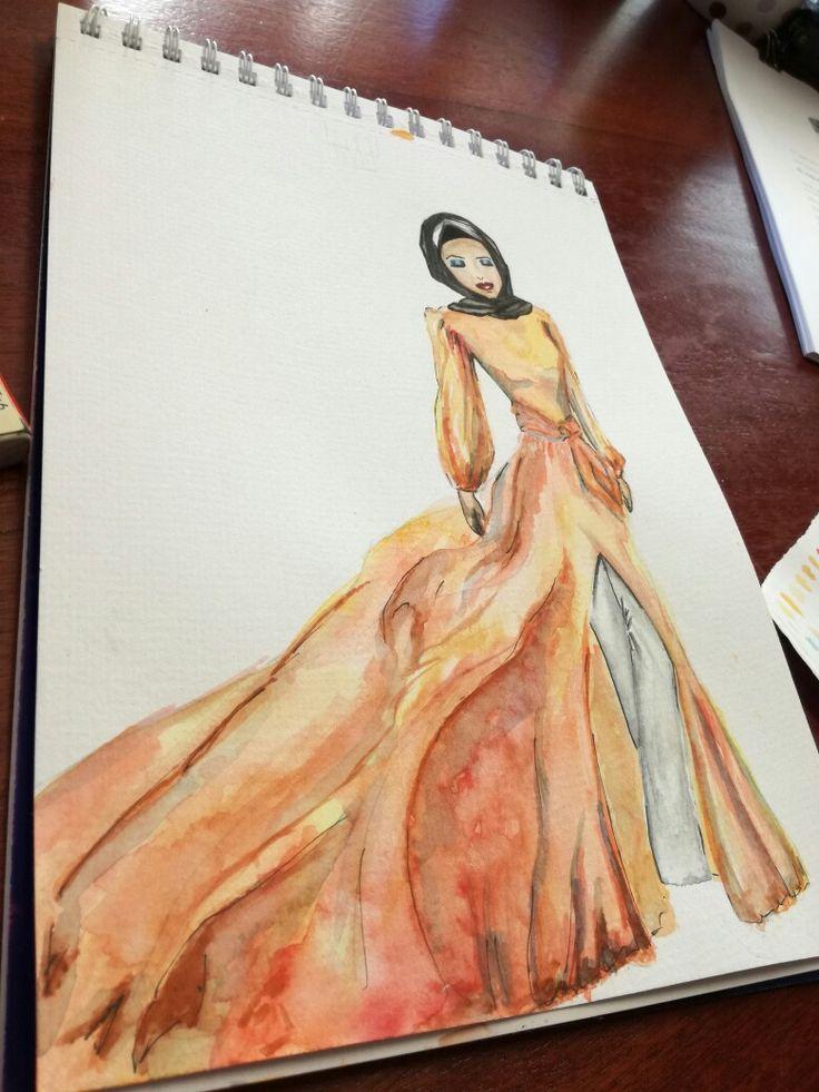 Hijab Illustration #watercolour