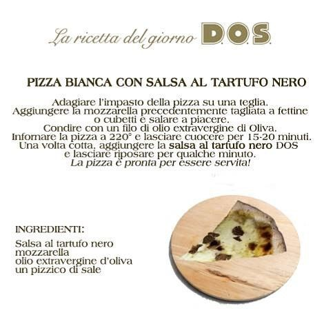 Niente grida #weekend come una bella #pizza calda! Noi di #DOS vi consigliamo di provare la #ricettadelgiorno: un'ottima pizza bianca con salsa al #tartufo nero!
