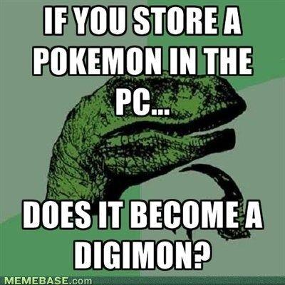 pokemon digimon meme