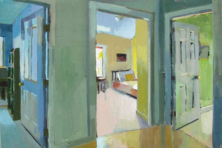 Carole Rabe > Blue Room, Yellow Room, Green Room oil on canvas, 20 x 30