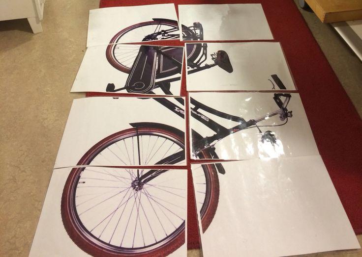 Puzzel fiets