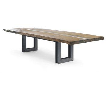 Beam di Riva 1920 su Interni: Tavolo realizzato con top in massello di Kauri, legno millenario della Nuova ...