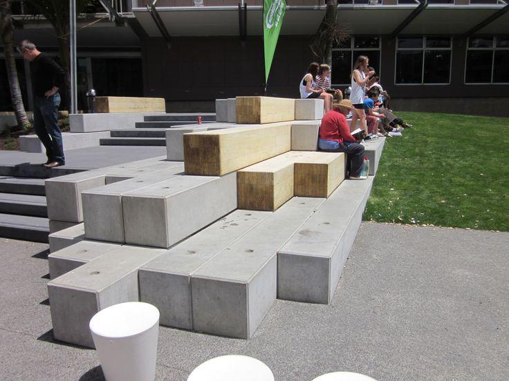 Accoya® Street furniture, Lower Brougham Street Upgrade, New Zealand. #accoya #wood