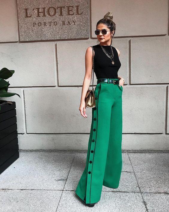 5 inspirações com pantalona para o office look