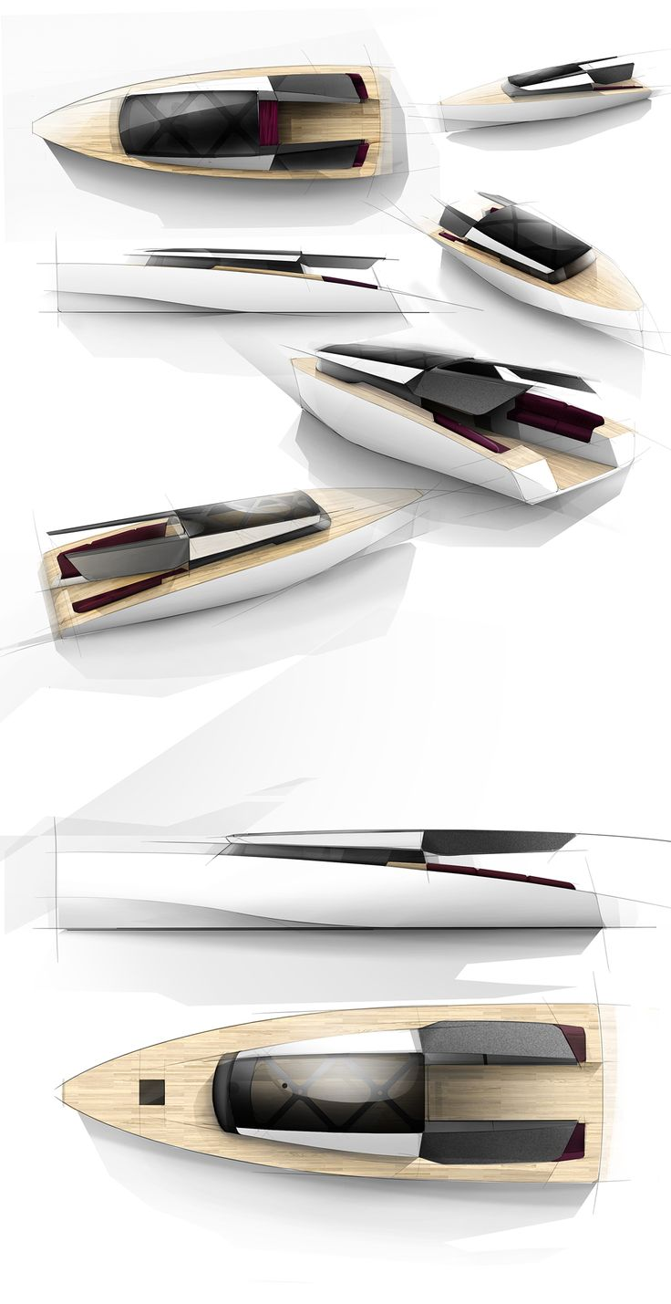 .动力游艇- Powerboat concept that take advantage from Asian insights to create new powerboat design.
